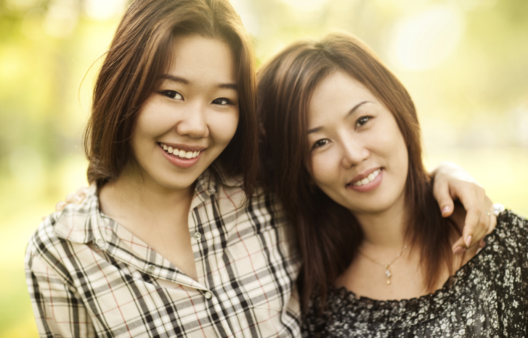 East Asian Mother and Teenage Daughter