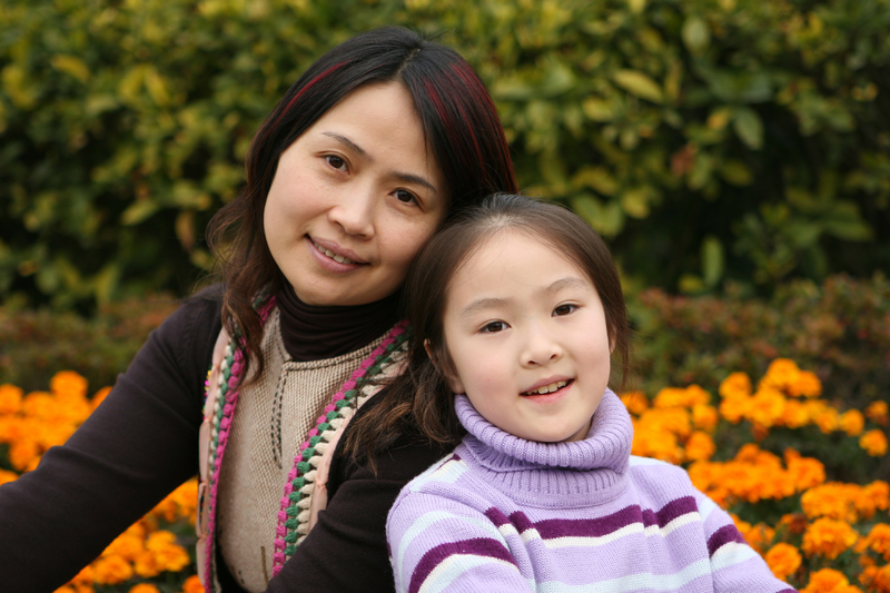 Korean mother daughter